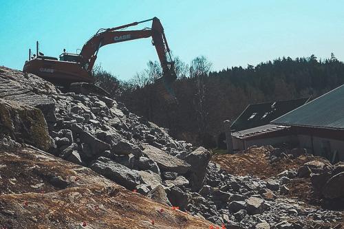 Jämshög Eknegård anläggningssprängning